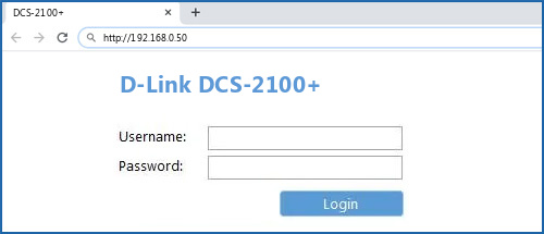 D-Link DCS-2100+ router default login