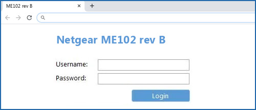 Netgear ME102 rev B router default login