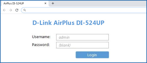 D-Link AirPlus DI-524UP router default login