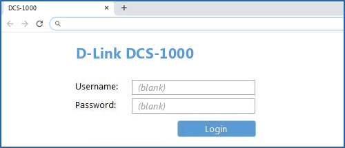 D-Link DCS-1000 router default login