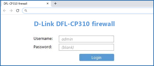 D-Link DFL-CP310 firewall router default login