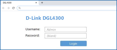 D-Link DGL4300 router default login