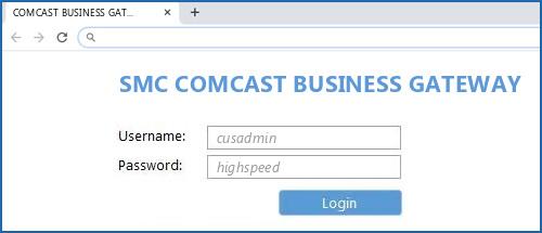 Smc Comcast Business Gateway Default Login Ip Default Username Password