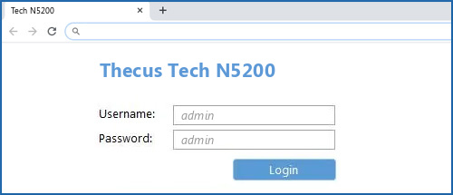 Thecus Tech N5200 router default login