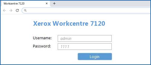 Xerox Workcentre 7120 Default Login Ip Default Username Password