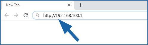 192.168.100.1 login page