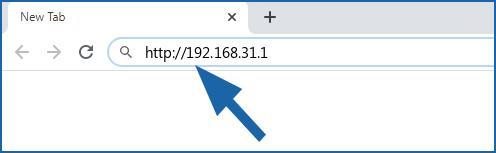 192.168.31.1 login page