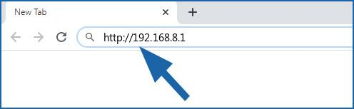 192.168.8.1 login page