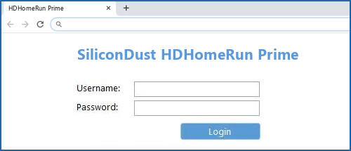 SiliconDust HDHomeRun Prime router default login