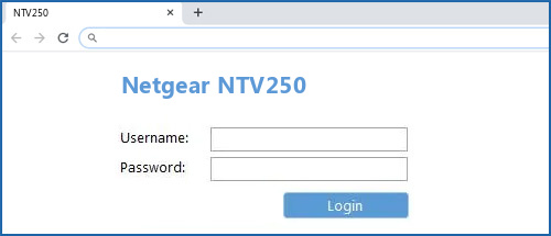 Netgear NTV250 router default login