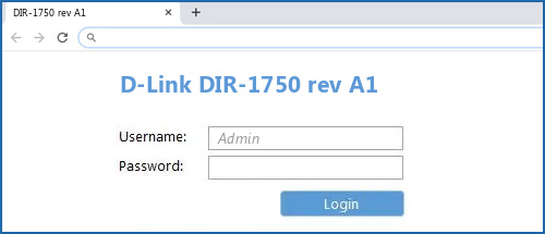 D-Link DIR-1750 rev A1 router default login