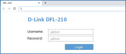 D-Link DFL-210 router default login