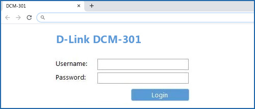 D-Link DCM-301 router default login