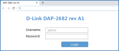 D-Link DAP-2682 rev A1 router default login