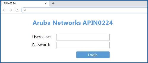 Aruba Networks APIN0224 yönlendirici varsayılan oturum açma