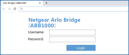 Netgear Arlo Bridge (ABB1000) router default login