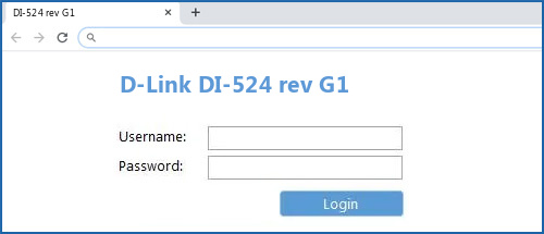 D-Link DI-524 rev G1 router default login