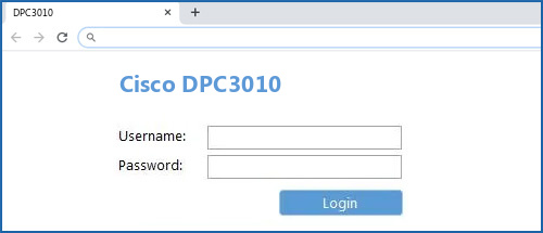 Cisco DPC3010 router default login