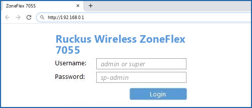 Ruckus Wireless ZoneFlex 7055 router default login