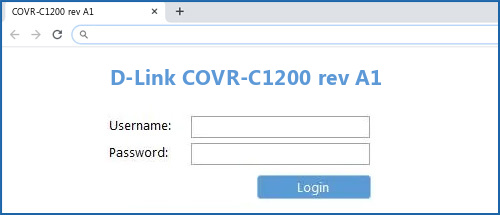 D-Link COVR-C1200 rev A1 router default login