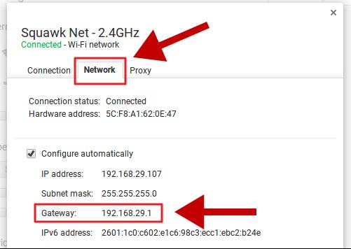 how to find bebos ip address