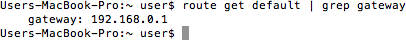 MacOS Router IP Address